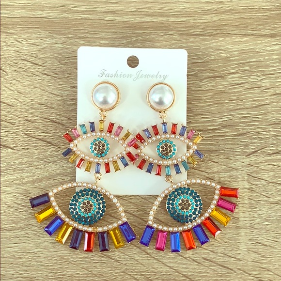 Fashion Jewelry Jewelry - Statement Crystal Eye Earring ❤️